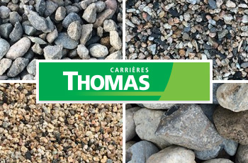 Gamme de matériaux Carrières Thomas